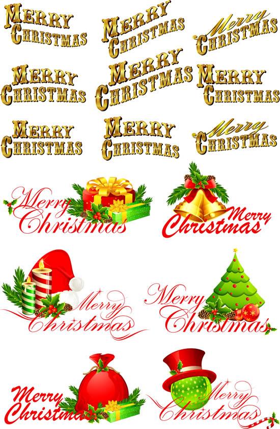 素材分类: 矢量圣诞节所需点数: 0 点 关键词: 圣诞快乐英文字体矢量