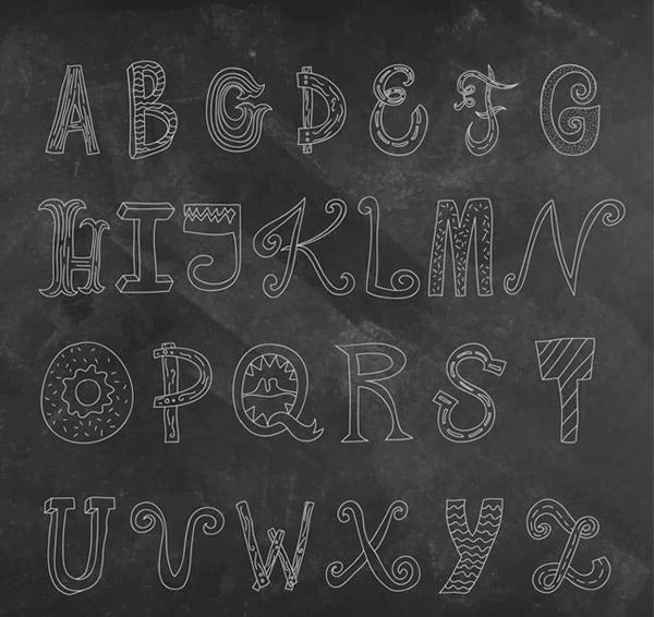 26个手绘字母图片