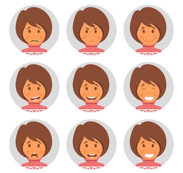 人物,表情,女子,短发,头像
