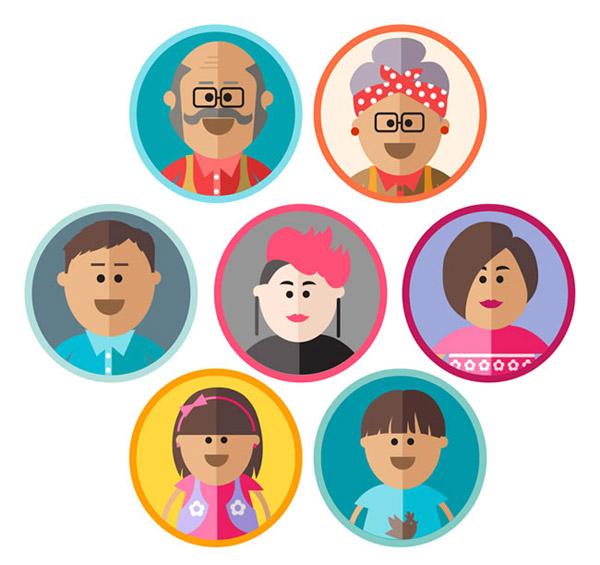 家庭人物头像_素材中国sccnn.com