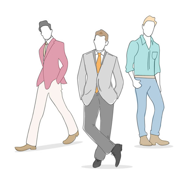 男子时装模特矢量_素材中国sccnn.com图片