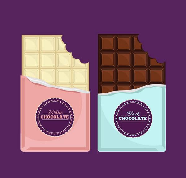 黑巧克力,牛奶,可可粉,甜食,巧克力,矢量图,ai格式 下载文件特别说明