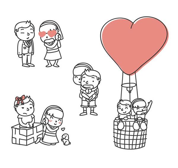 可爱情侣设计_素材中国sccnn.com