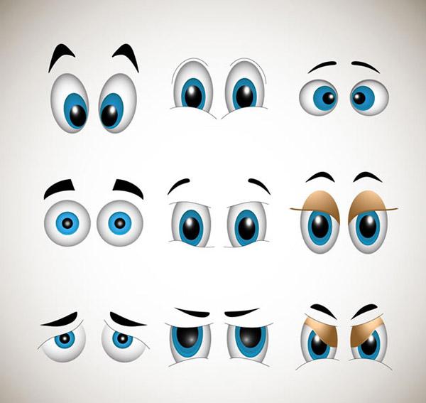 卡通眼睛设计_素材中国sccnn.com