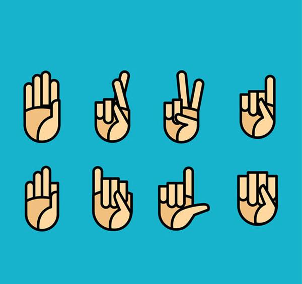 素材分类: 矢量各式图标所需点数: 0 点 关键词: 创意手势图标矢量