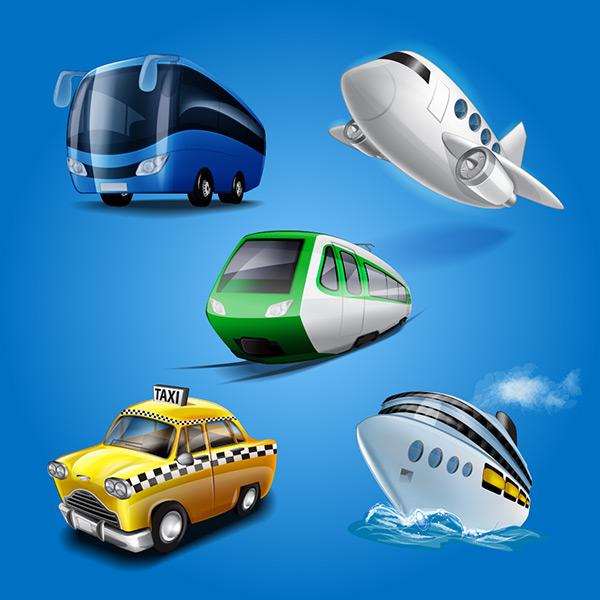 运输设计矢量素材,船舶