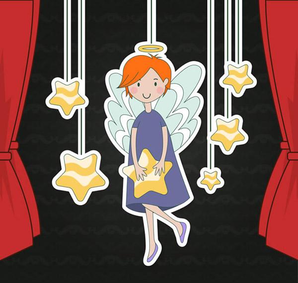 天使和星星挂饰