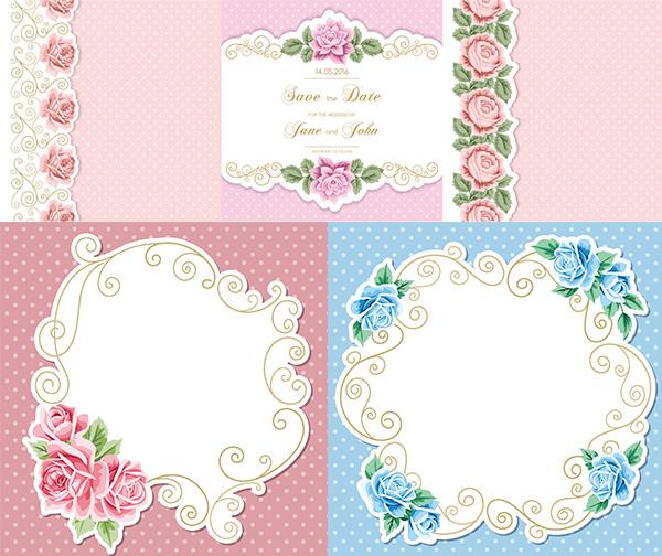 花朵边框装饰_素材中国sccnn.com
