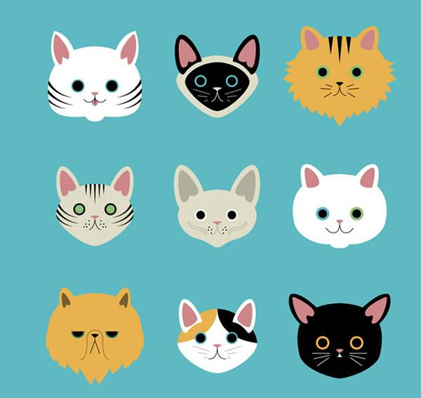 卡通猫咪头像