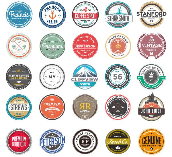 复古标签,圆形品质,质量标签,徽标,徽章,标帖,标志图标,矢量素材,eps图片