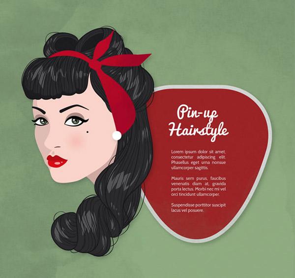 素材分类: 矢量女性人物所需点数: 0 点 关键词: 复古女郎发型矢量