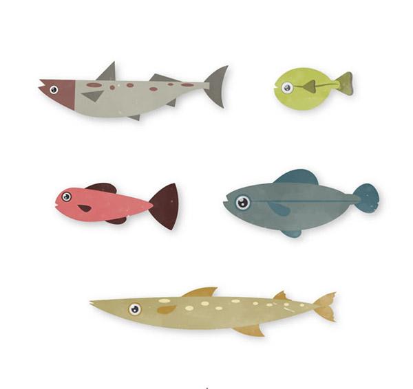 海洋鱼设计矢量