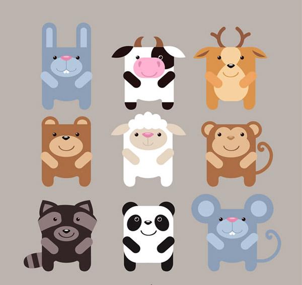 方形动物设计_素材中国sccnn.com