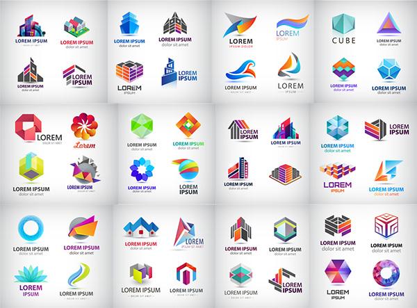 个性炫彩logo设计矢量素材,个性炫彩标志,标志图形,logo设计,创意logo