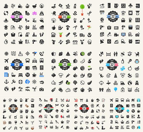 简约图标,按钮图标设计,icon时尚图标,生活百科,个性图标,矢量素材
