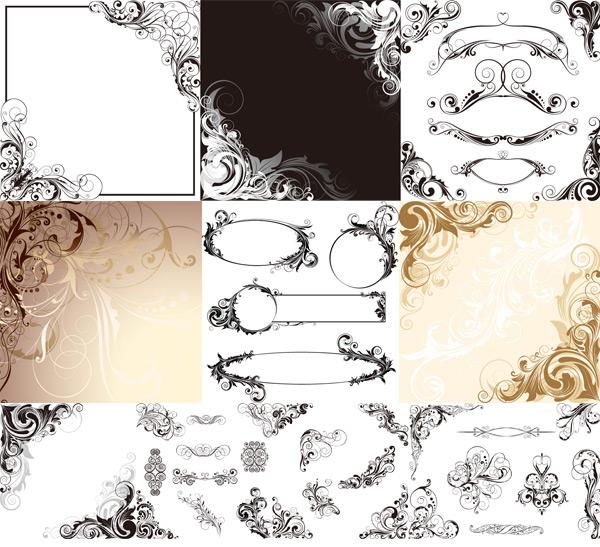 素材分类: 矢量花纹所需点数: 0 点 关键词: 欧式边角花纹设计矢量图片