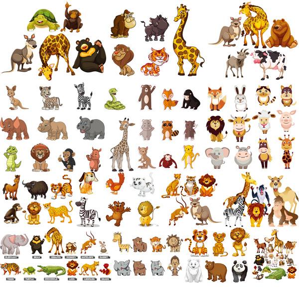 卡通动物矢量_素材中国sccnn.com