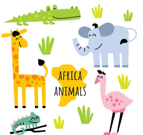 非洲动物矢量_素材中国sccnn.com