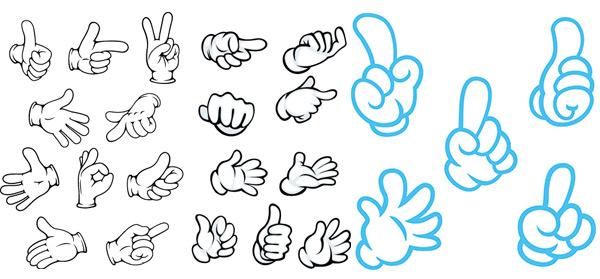 关键词: 各种手势图案矢量素材,拳头,顶呱呱,点赞,手,手指,手掌,手势