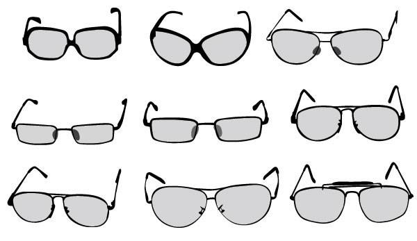 各种眼镜矢量_素材中国sccnn.com