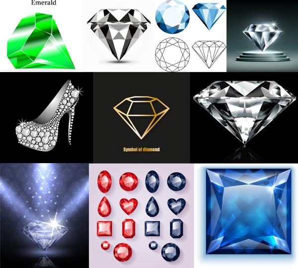 钻石珠宝矢量
