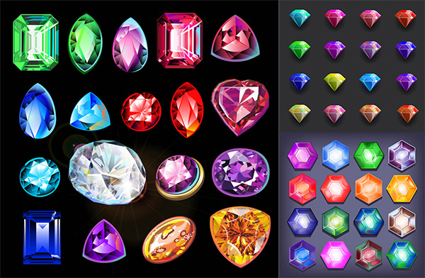 宝石刻面画法步骤图