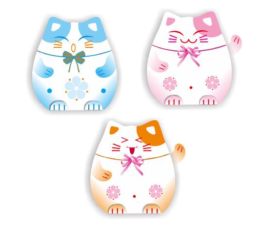 日本招财猫矢量素材下载,矢量,卡通,财运,吉祥物,招财猫,可爱,蝴蝶结