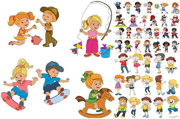 卡通儿童人物