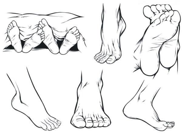 素材分类: 矢量肢体动作所需点数: 0 点 关键词: 人体脚部素描矢量素