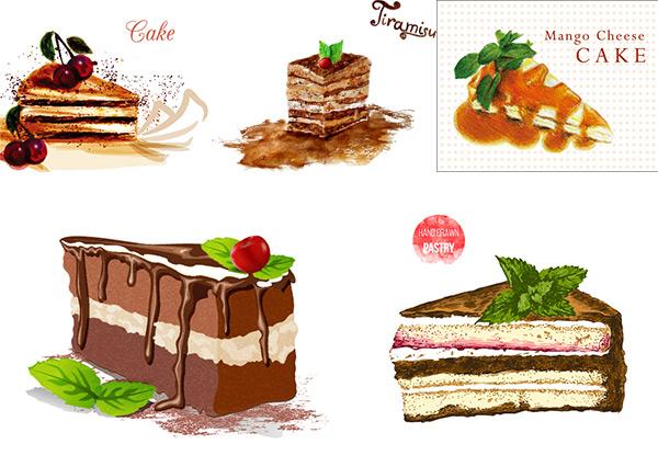 素材分类: 矢量美食所需点数: 0 点 关键词: 蛋糕甜食矢量,巧克力