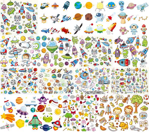 et,外星人,球类,宇宙,科技,儿童插画,绘画,航天器材,卡通火箭,飞船图片