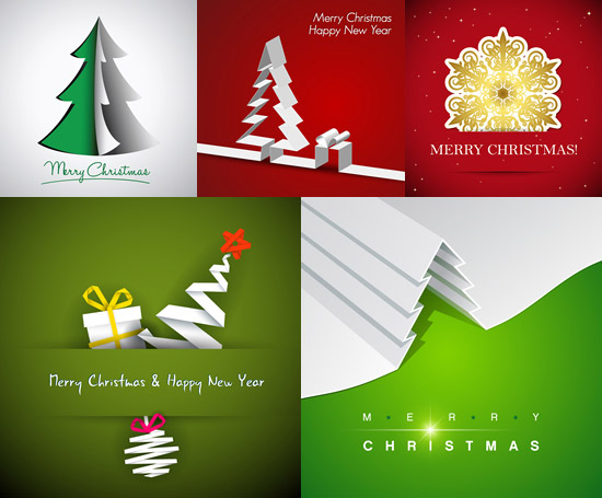 圣诞节折纸背景