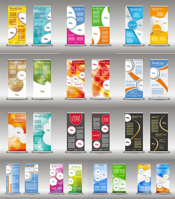 x展架展板设计,展架模板,时尚背景,创意海报设计,宣传展板,易拉宝版式