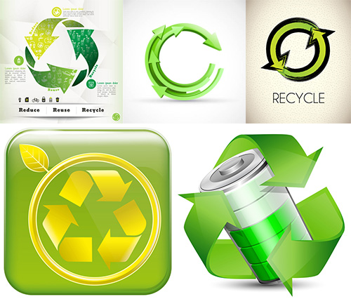 生态环保主题标签标志等矢量素材v5免费下载,矢量素材,矢量图,设计