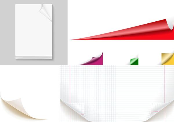 纸张卷纸效果