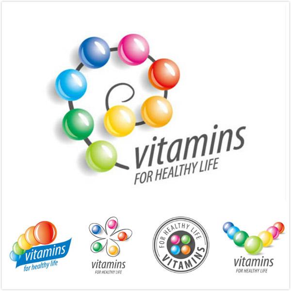 健康所需维生素主题创意矢量素材v2