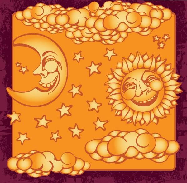 太阳星星月亮装饰