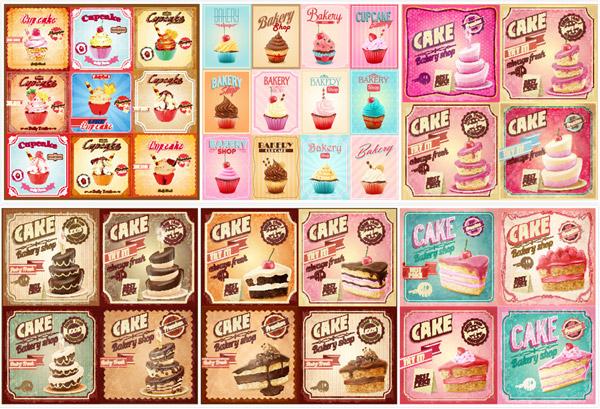樱桃,复古效果,蛋糕,奶油,糕点,甜品,甜食,甜点,食物原料,食材原料