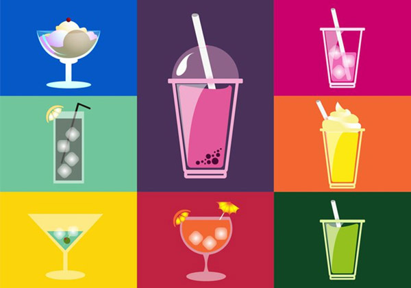 素材分类: 矢量饮品所需点数: 0 点 关键词: 夏季缤纷饮料矢量素材