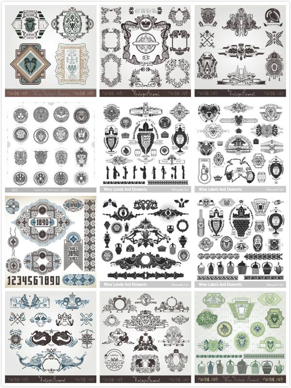 欧式古典花纹图案