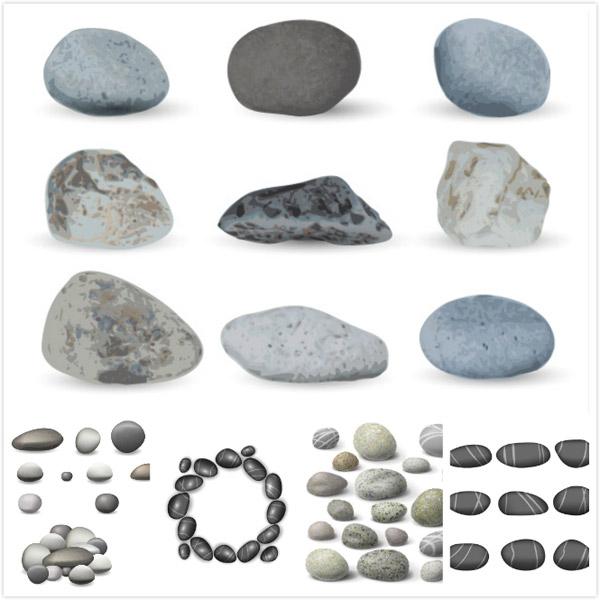 鹅卵石石头矢量_素材中国sccnn.com