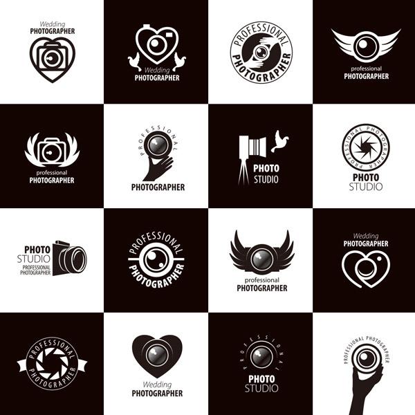 黑白相机logo_素材中国sccnn.com