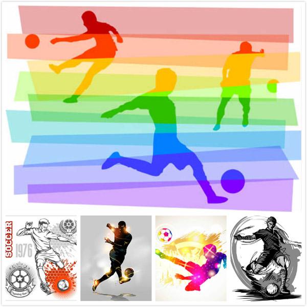 足球运动人物矢量