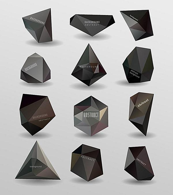 黑色多边形晶格