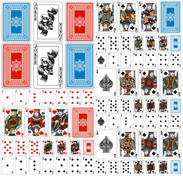 扑克牌牌集矢量