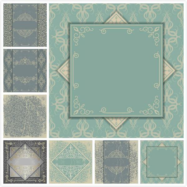 古典欧式花纹设计矢量素材