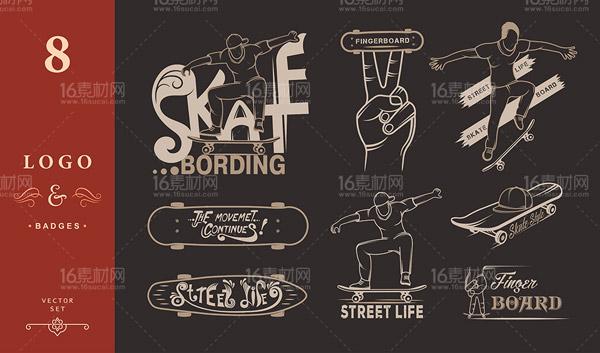 潮流滑板体育运动_素材中国sccnn.com