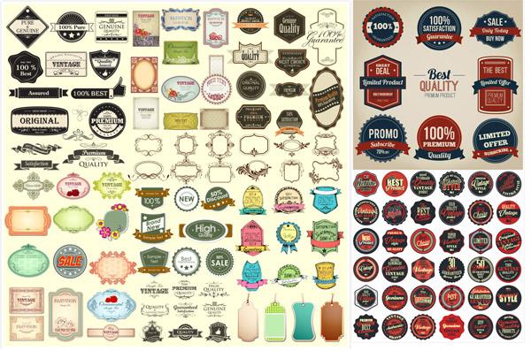 圆形图标标签设计矢量素材,网页图标,圆形图标,图标装饰,欧式复古标签,促销标签素材,图标设计,复古贴纸设计,徽标徽章标帖,标志图标,矢量素材,ai