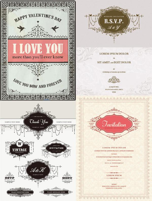 邀请函,婚礼邀请卡,欧式风格