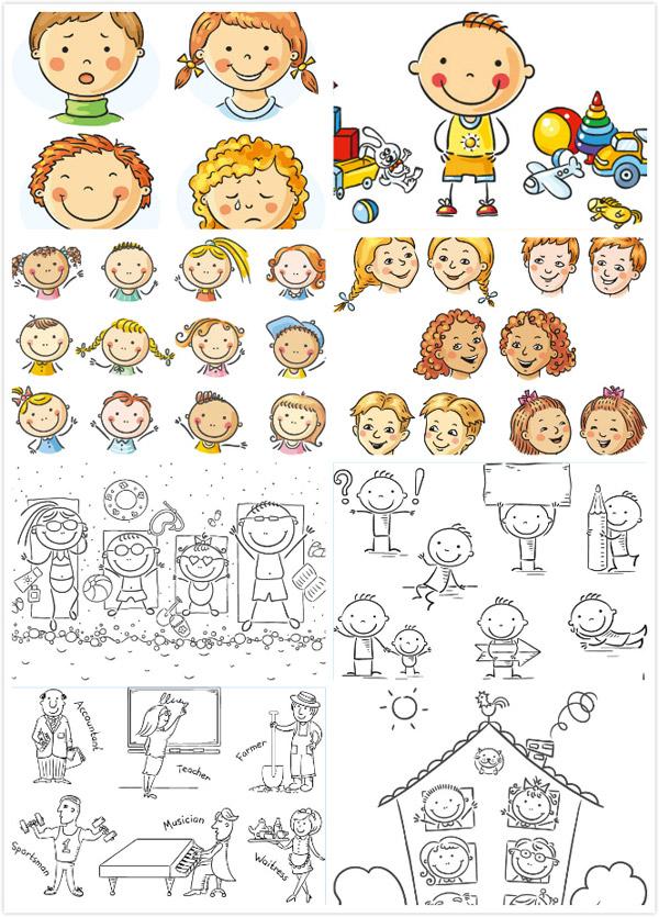 0 点 关键词: 可爱的卡通儿童设计矢量素材,,花朵,花束,求婚,婴儿